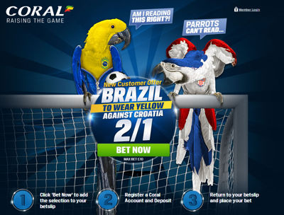 coral brazil to wear yellow against croatia (2014 world cup)