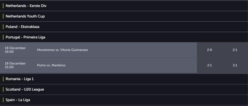 ComeOn Results Service