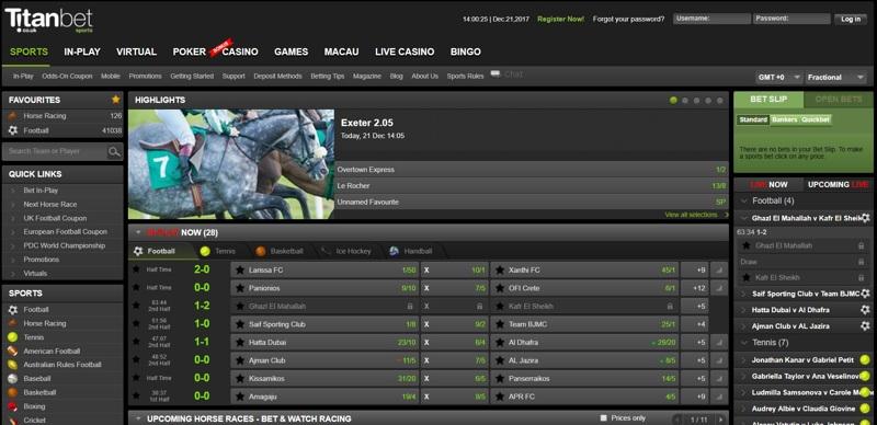 TitanBet Website