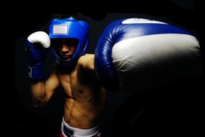 Boxing Left Jab