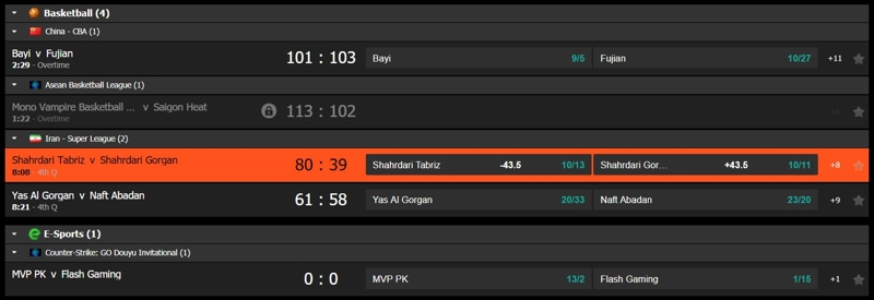 Sport Nation In-Play