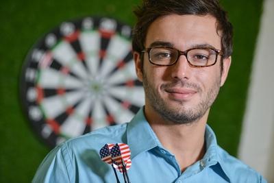 Confident Darts Player