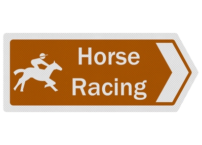 Horse Racing Sign