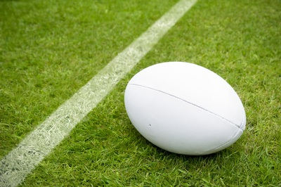 Rugby Ball Near Line