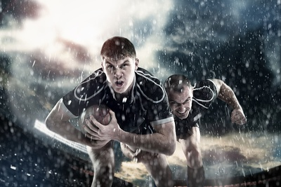Rugby in the Rain
