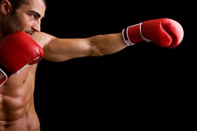 Boxer Red Gloves