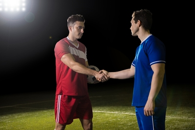 Footballers Shaking Hands