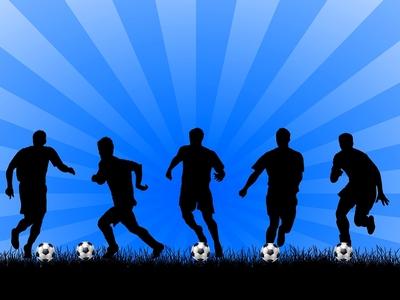 Footballers Silhouette