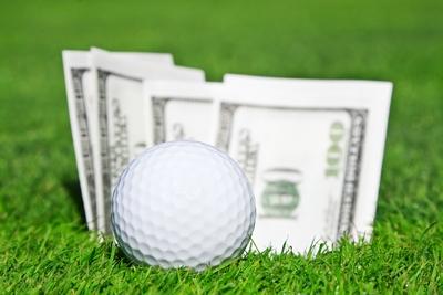 Golf Ball and Money