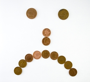 Sad Face Pennies