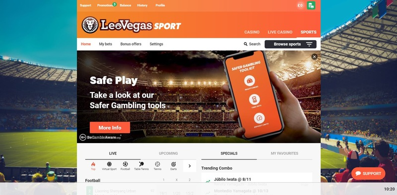 LeoVegas Sportsbook Website